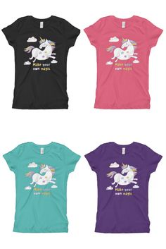 305a60e9 Magic Unicorn Girl's T-Shirt made in US. Order online. Unicorn Universe