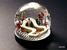 Nisse Snow Globes: Living with Mythical Scandinavian Creatures Snow Globe Kit, Diy Snow Globe, Christmas Snow Globes, Christmas Town, Christmas Themes, Christmas Lights, Unique Snow Globes, Christmas Window Display, Globe Art