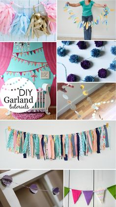 8 DIY Garland Tutorials - we love that these garlands double as room and party decor!