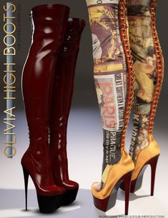 Olivia Morphing High Boots for Genesis 3 Female(s)