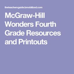 McGraw-Hill Wonders Second Grade Resources and Printouts Wonders Reading Programs, Wonders Reading Series, Teaching Reading Strategies, Reading Comprehension, Teaching Ideas, Reading Resources, Teaching Tools, Mcgraw Hill Wonders, Child Teaching