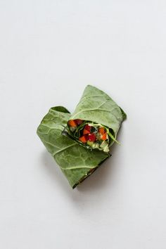 avocado goat cheese spread with pepper, carrot and cabbage leaf wrap | Edible Perspective