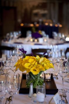 #yellow wedding centerpiece ... For more wedding ideas for brides, grooms, parents & planners  ... https://itunes.apple.com/us/app/the-gold-wedding-planner/id498112599?ls=1=8 ... plus how to organise your entire wedding ... The Gold Wedding Planner iPhone App ♥