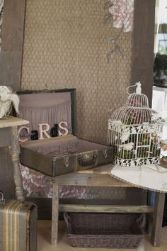 rustic wedding gift table - Google Search