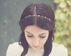 Bridal hair crown flower hair wreath gold headpiece от Elibre