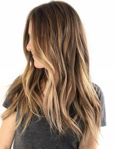 Blonde Balayage For Long Brown Hair | Hair Inspo. Hair Color. Hair Color Ideas. Hair Ideas. Brunette. Highlights. Lowlights.