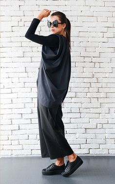 Black Draped Vest with Oversize Shoulder Pads, Belted - METC0024  This is a…