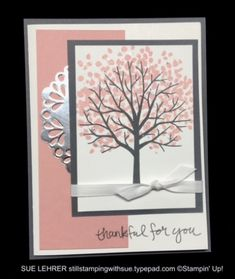 Handmade card using the Sheltering Tree Stamp Set from Stampin' Up!