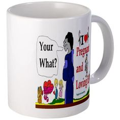 Pregnant Announcement  Funny Mug by CafePress