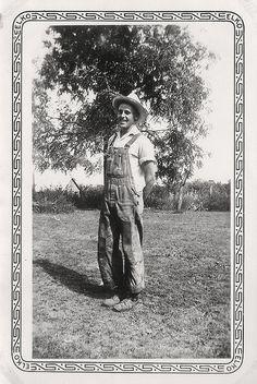 Farmboy in overalls