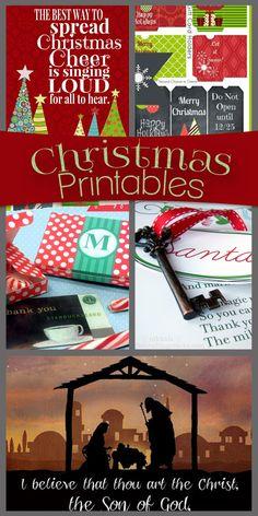Christmas Printables.  Wide Variety!