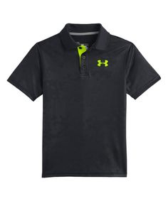 Look at this Under Armour® Black Match Play Embossed Polo - Boys on #zulily today!