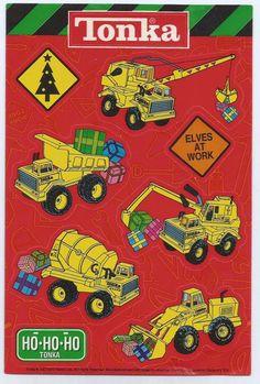 Stickers Vintage 1 sheet Hastro  TONKA Christmas American Greetings 1999  A1-4 #AmericanGreetings #Stickers