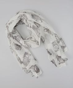 Take a look at this Gray Camera Scarf by Oliviette on #zulily today!