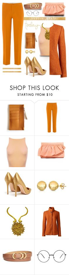 """""""#office style"""" by liligwada ❤ liked on Polyvore featuring Etro, Marie Turnor, Gianvito Rossi, Lands' End and Anne Klein"""