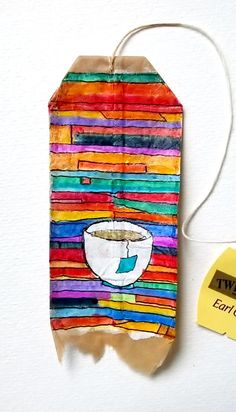 Tea Bag Art, Tea Art, Zentangle, Used Tea Bags, Paper Art, Paper Crafts, T Bag, Tea Stains, Mini Canvas