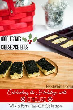Oreo Eggnog Cheesecake Bites