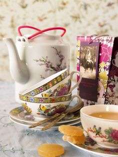 Ginger Tea with Teacups and Teapot ~ Would make a nice gift for someone who doesn't feel so well.