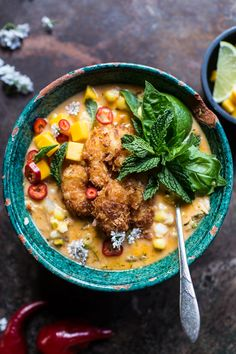 chowder thai chile corn chowder with coconut fried shrimp