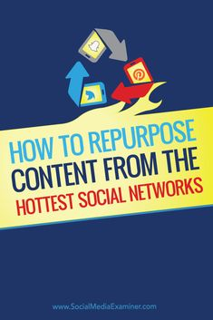 How to Repurpose Content From the Hottest Social Networks : Social Media Examiner