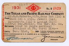 Texas and Pacific Railway Co.