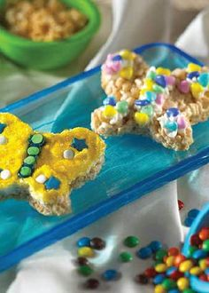 Beautiful Butterfly Rice Krispies Treats® are a quick and easy recipe to make, and they're so fun to decorate for summer with your kids. This is a great party activity or cookout dessert to share with the whole family!
