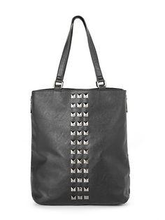 Studded Tote Bag: Dots.com