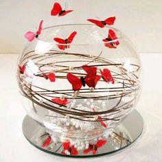 más y más manualidades: Crea bellos centros de mesa con tema de mariposas