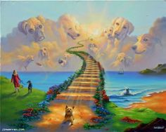 photoes of heaven for dogs | All Dogs go to Heaven 3 - Art and Paintings by Artists Wyland, James ...