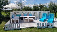 Bricolage: une terrasse et un salon de jardin en palettes - http://www.2tout2rien.fr/bricolage-une-terrasse-et-un-salon-de-jardin-en-palettes/