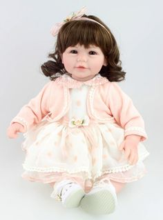 """77.68$  Buy now - http://alik7p.worldwells.pw/go.php?t=32380439711 - """"20"""""""" 50cm Vinyl Silicone Reborn Baby Doll New Princess Girl Baby Doll Toy with PP Cotton Body Kid Gift Toy Clothing Model"""" 77.68$"""