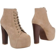 Jeffrey Campbell Ankle Boots ($228) ❤ liked on Polyvore featuring shoes, boots, ankle booties, sand, real leather boots, jeffrey campbell bootie, genuine leather boots, leather booties and short boots