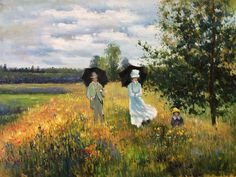 """Monet, """"The Promenade Near Argenteuil""""  placed 10th in overstockart.com Top 10 Most Romantic Oil Paintings for Valentine's Day 2015.  #art"""