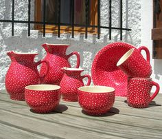 Beautiful spotty pottery: The Dot Range from Petersfield's Le Panier Catalan