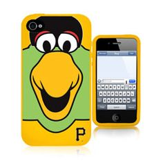 Pittsburgh Pirates 3D Silicone Mascot iPhone 4/4S Case $29.99 http://www.fansedge.com/Pittsburgh-Pirates-3D-Silicone-Mascot-iPhone-44S-Case-_-1708351706_PD.html?social=pinterest_pfid23-52289