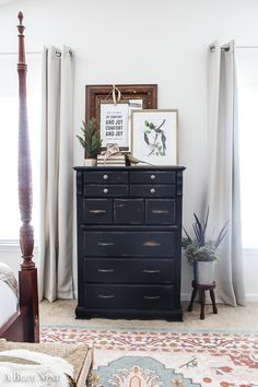 Wooden Dresser Makeover with Annie Sloan Chalk Paint Tall Dresser, Comfort And Joy, Brass Handles, Annie Sloan Chalk Paint, Diy Craft Projects, Crafts, Antique Stores, Furniture Makeover, Painted Furniture