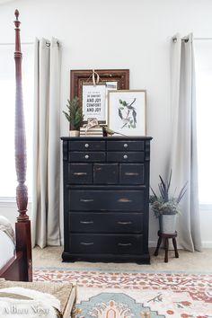 Wooden Dresser Makeover with Annie Sloan Chalk Paint Furniture, White Chalk Paint, Chalk Paint Dresser, Dresser Makeover, White Chalk Paint Furniture, Black Painted Furniture, Wooden Dresser