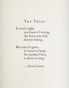 The Thief by Michael Faudet