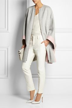 FENDI Two-tone cashmere  coat  £2,888.00 http://www.net-a-porter.com/products/497086
