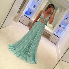 Blue Lace V Neck Sexy Charming 2017 Long Prom Dresses, WG745 The long prom dress is fully lined, 4 bones in the bodice, chest pad in the bust, lace up back or zipper back are all available. This dress could be custom made, there are no extra cost to do custom size and color. Description of dress 1, Material: lace, tulle, beads, elastic silk like satin. 2, Color: picture color or other colors, there are many colors available, please contact us if you need fabric swatch. 3, Size: standard size…
