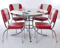 retro kitchen chairs and tables photo - 1