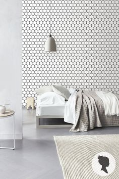 Peel and Stick Honeycomb Pattern Removable Wallpaper door Livettes