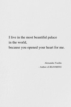 Your Love Is A Palace | Alexandra Vasiliu - Bestselling author of Healing Words