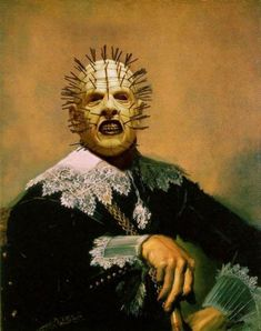 Famous monsters from movies on classic paintings (35 pics) Pinhead