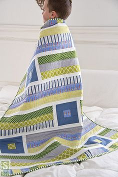 "Growing Up Modern by C Publishing---since the birth of grandson I'm noticing quilts more ""masculine""."