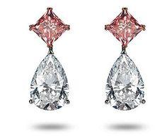 Hermosos Aretes Chopard. Diamantes blanco: 6 quilates. Rosa: 2 quilates. Precio: 3 millones de euros.