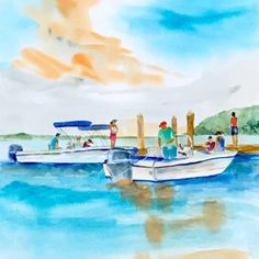 Shop the Coastal Watercolor Series - Original Art by Laura Trevey - inspired by the crystal clear blue waters of the Bahamas and Caribbean Islands. Watercolor Paintings, Original Paintings, Original Art, Watercolors, Fall Window Boxes, Diy Clothes Hangers, Jewels Clothing, Cute Turtles, Coastal