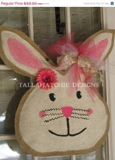 Easter Sale 25 Off Burlap Easter Bunny by TallahatchieDesigns, $24.00
