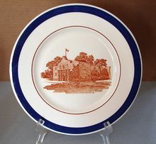 "MK Railroad Big Blue ""Alamo"" China Service Plate"