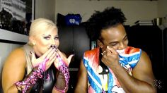 Dana Brooke and Xavier Woods know things...LOL.